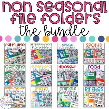 Non Seasonal Themed File Folder BUNDLE for Special Education