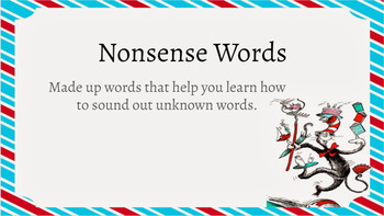 Google Classroom- Non Sense Words Mini Lesson