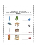 Non-Standard Item Measurement Worksheet/Record Sheet