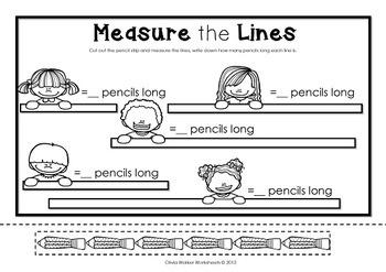 non standard measurement length worksheets for kindergarten grade one. Black Bedroom Furniture Sets. Home Design Ideas