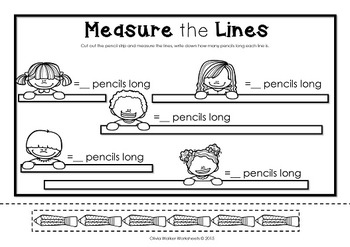 Non Standard Measurement - Length Worksheets for Kindergarten ...