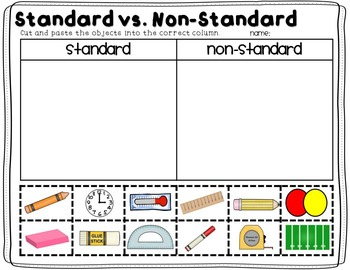 Non-Standard Measurement