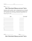 Non- Standard Measurement Activity and companion Homework