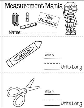 Non-Standard Measurement Booklet