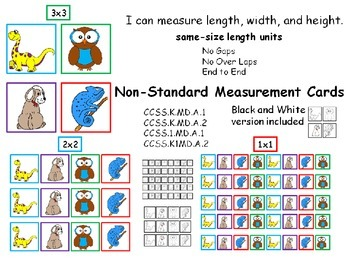 Measurement Cards Non Standard Units