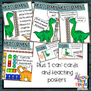 Non Standard Measurement Dinosaur pack - measuring height and length
