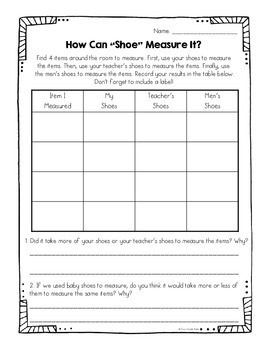 Non-Standard Measurement FREEBIE
