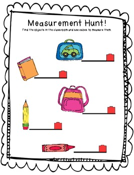 non standard measurement hunt by keen on the classroom tpt. Black Bedroom Furniture Sets. Home Design Ideas