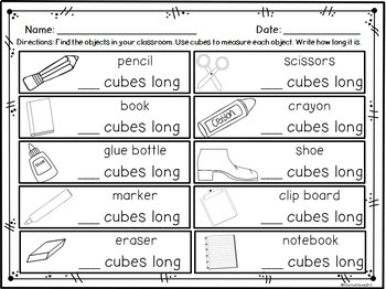 Non-Standard Measurement: Measuring with Cubes and Clips 1.MD.A.2 Common Core