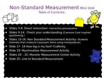 Non-Standard Measurement Mini Unit