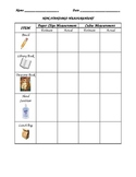 Non-Standard Measurement Recording Worksheet