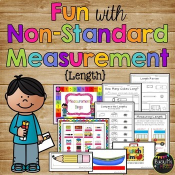 Nonstandard Measurement, Length - Cubes and Paper Clips - K, First