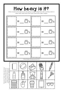 weight worksheets non standard measurement kindergarten. Black Bedroom Furniture Sets. Home Design Ideas