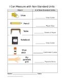 Non-Standard Measurement Worksheet