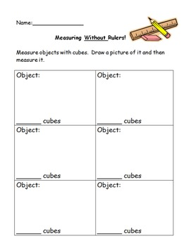 Non-Standard Measurement Worksheet - Everyday Math Unit 4
