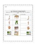 Non-Standard Measurement Worksheet/Record Sheet