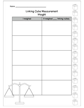 Non-Standard/Standard Measurement for Kindergarten