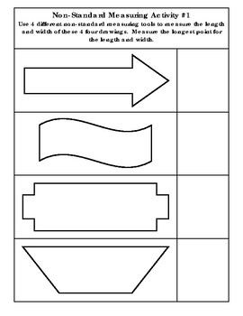 Non-Standard Measuring Activity With Shapes #1