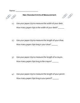 Non-Standard Units of Measurement