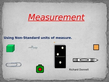 Non Standard Units of Measurement