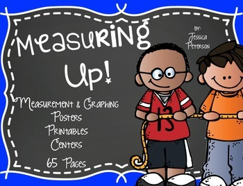 Non-Standard Units of Measurement & Graphing 65 Pages {Kinder & 1st Grade}