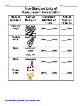 Non-Standard Units of Measurement Investigation
