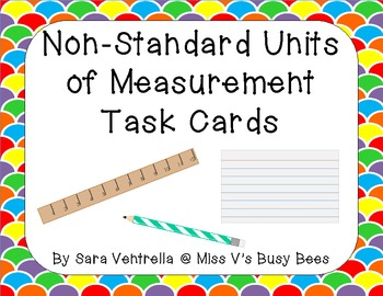 non standard units of measurement task cards freebie by sara ventrella. Black Bedroom Furniture Sets. Home Design Ideas