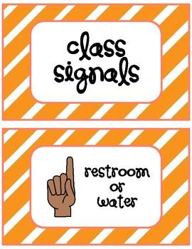 Non-Verbal Class Signals - Orange!