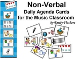 Non-Verbal Daily Agenda Cards for the Music Classroom