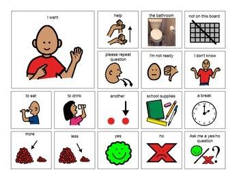 Non-Verbal Visual Communication Boards