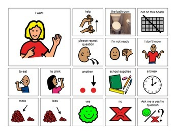 Non-Verbal Visual Communication Boards