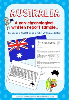 Non-chronological Report Australia