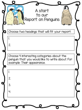 Non-chronological report writing - penguins