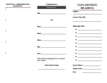 Non-fiction Active Reading Brochure