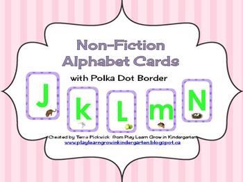 Non-fiction Alphabet Cards