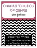 Non-fiction Characteristics of Genre