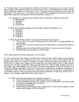 Nonfiction Close Reading Practice with Alexander Hamilton-PARCC and Common Core
