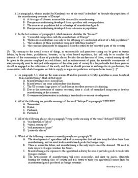 Nonfiction Close Reading Practice with Alexander Hamilton-- COMMON CORE