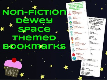 Non-fiction Dewey Space Themed Bookmarks