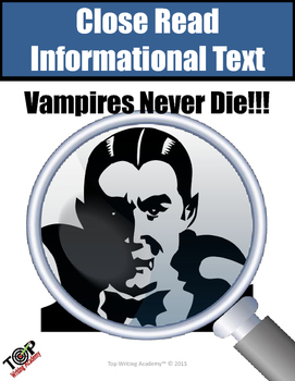 "Halloween Non-fiction Close Reading Unit ""Vampires"""