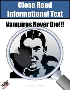 "Non-fiction Close Reading Unit ""Vampires"""