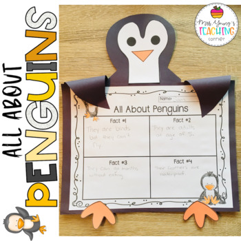 Non-fiction Penguin Activity: Craft & Graphic Organizer for Listing Facts
