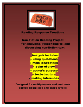 Non-fiction Book Report: Reading Response Pages (genre/book study/project)