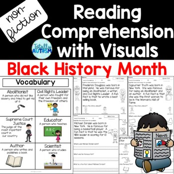 Non-fiction Reading Comprehension with Visuals: Black History Month