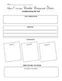 Non-fiction Reading Response Sheet for Any Text