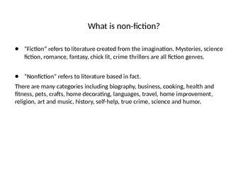 Non-fiction Reading Strategies