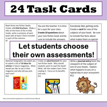 Nonfiction Assessment Task Cards