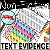 Non-fiction Reading Passages Text Evidence {April}