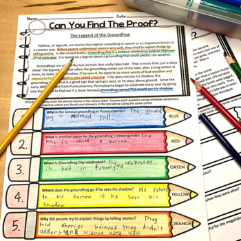 Non-fiction Passages Text Evidence {February}
