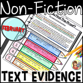 Non-fiction Reading Passages Text Evidence {February}